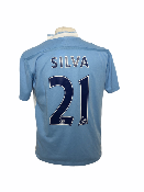 "Manchester City 2011-2012 HOME Taille ""M"" #21 SILVA"