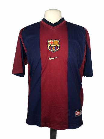 "FC Barcelone 1998-1999 AWAY Taille ""L"""