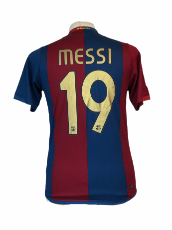 "FC Barcelone 2006-2007 HOME Taille ""S"" #19 Messi"