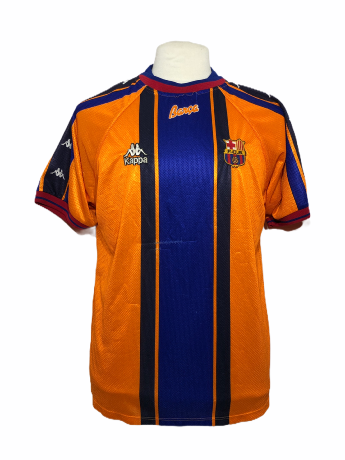 "FC Barcelone 1996-1997 AWAY Taille ""L"""
