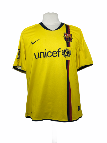"FC Barcelone 2008-2009 AWAY Taille ""XL"""