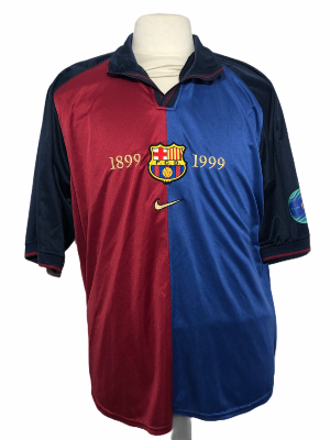 "FC Barcelone 1999-2000 HOME Taille ""XL"""
