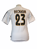 "Réal Madrid 2003-2004 HOME Taille ""S"" 23 BECKHAM"