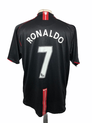 "Manchester United 2007-2008 AWAY Taille ""XL"" #7 RONALDO"