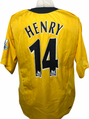 "Arsenal 2006-2007 AWAY Taille ""XL"" 14 HENRY"