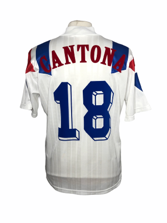 "France 1992 AWAY Taille ""M"" #18 CANTONA"