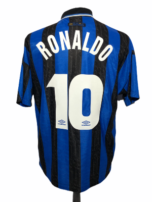 "Inter Milan 1997-1998 HOME Taille ""XL"" #10 RONALDO"