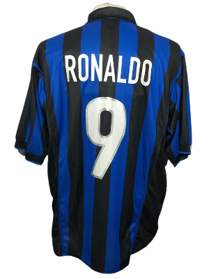 "Inter Milan 1998-1999 HOME Taille ""XL"" #9 RONALDO"