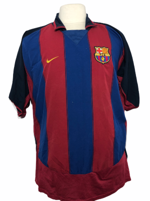 "FC Barcelone 2003-2004 HOME Taille ""XXL"""