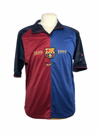 "FC Barcelone 1999-2000 HOME Taille ""L"""