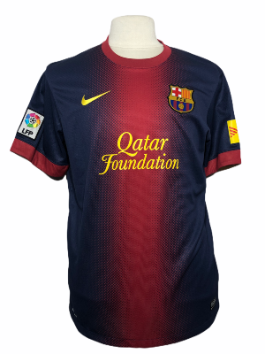 "FC Barcelone	2012-2013 HOME Taille ""L"""