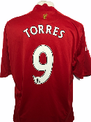 "Liverpool 2008-2009 HOME Taille ""XL"" #9 TORRES"