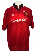 "Manchester United 1994-1995 HOME Taille ""XL"" 7 CANTONA"