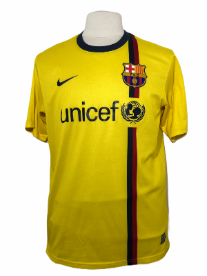 "FC Barcelone 2008-2009 AWAY Taille ""L"""