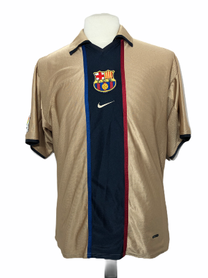 "FC Barcelone 2001-2002 AWAY Taille ""L"""